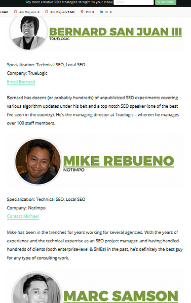 Online Mentions Michael Rebueno Technical SEO